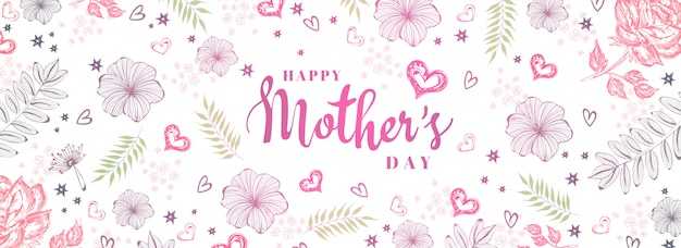 Mother's day achtergrond. Premium Vector