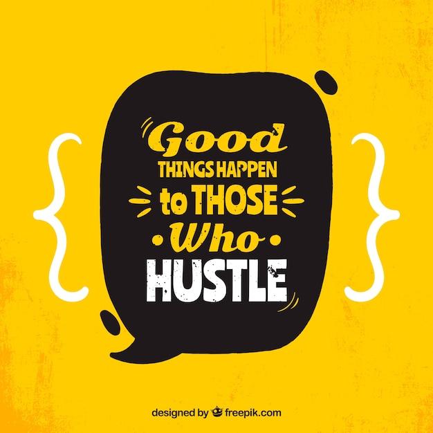 Motivatie citaat achtergrond in gele kleur Gratis Vector
