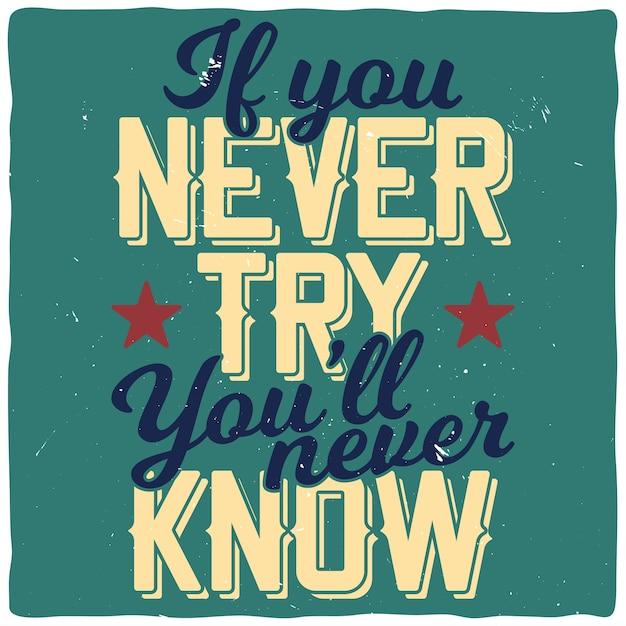 Motiverend citaat. inspirerend citaatontwerp. Gratis Vector