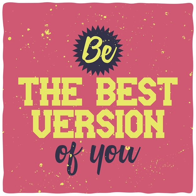 Motiverende belettering. inspirerend citaatontwerp. Gratis Vector