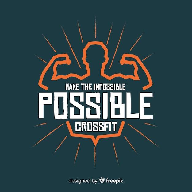 Motiverende letters: maak het onmogelijke mogelijk. crossfit Gratis Vector