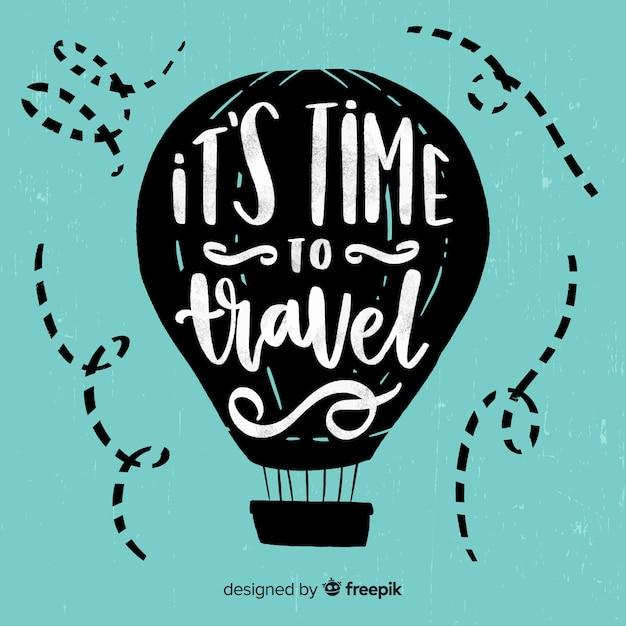 Motiverende reizen citaat achtergrond Gratis Vector