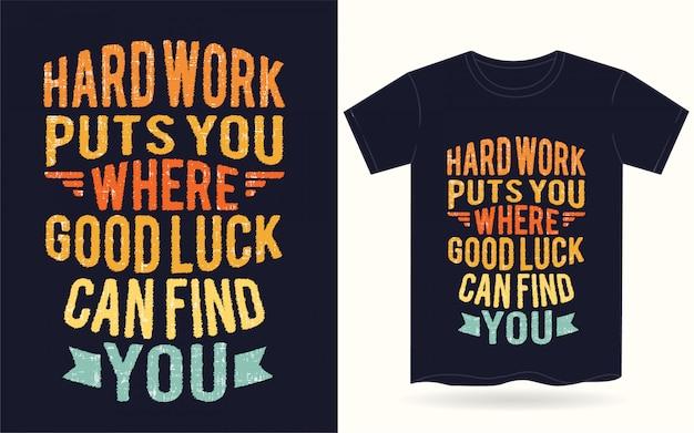 Motiverende typografie voor t-shirt Premium Vector
