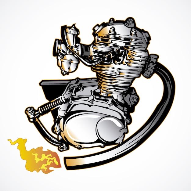 Motor motor hand getekend Gratis Vector