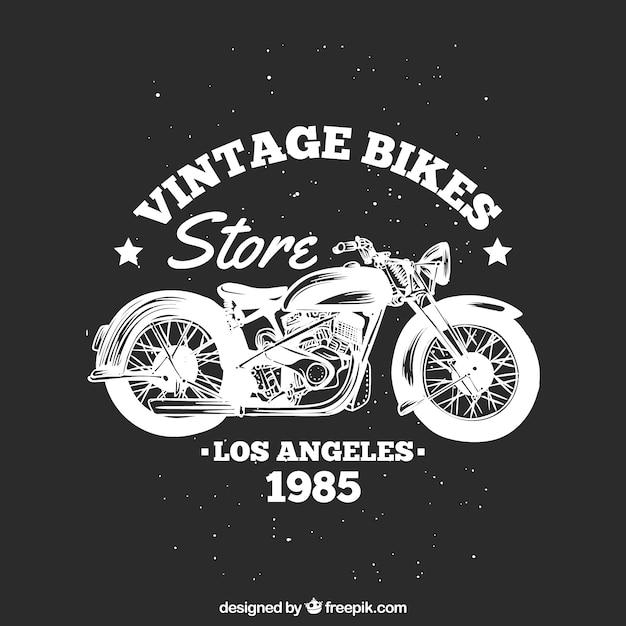 Motorbike vintage embleem Gratis Vector