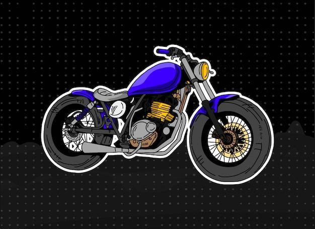 Motorfiets illustratie Premium Vector