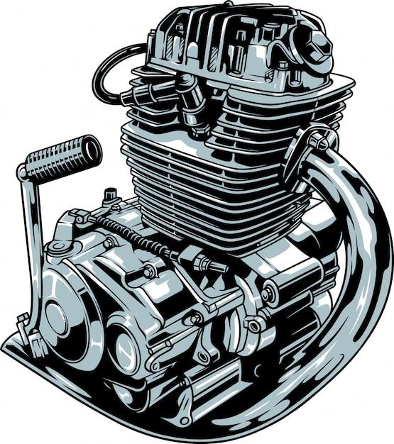 Motorfiets motor Premium Vector
