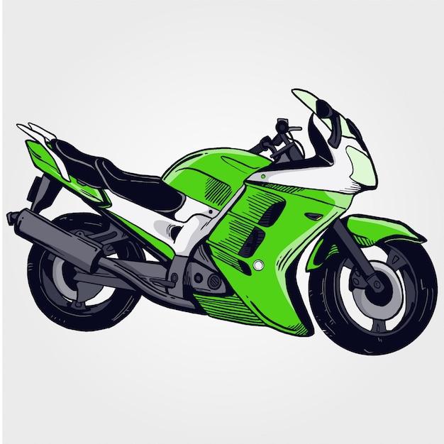 Motorfiets Premium Vector