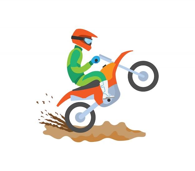 Motorrijden op extreme sporten Premium Vector