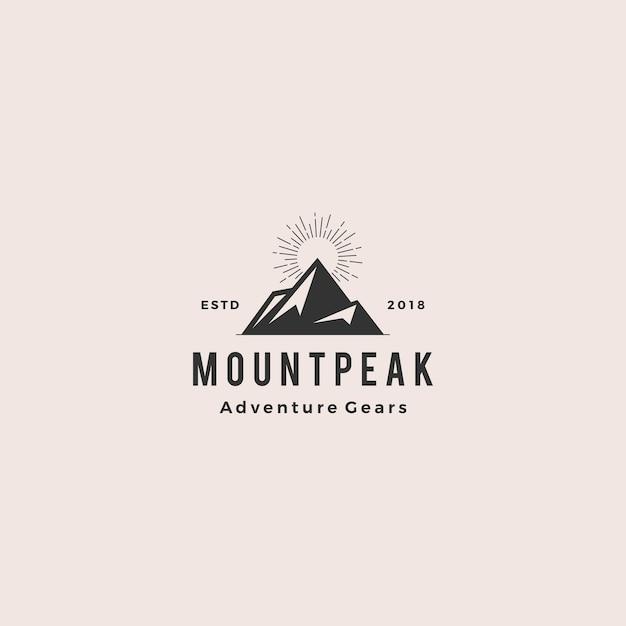 Mount peak mountain-logo Premium Vector