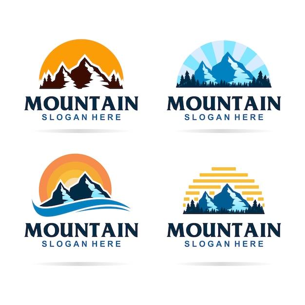 Mountain bundel logo Premium Vector