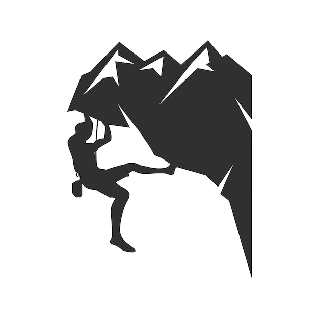 Mountain climbing logo Premium Vector