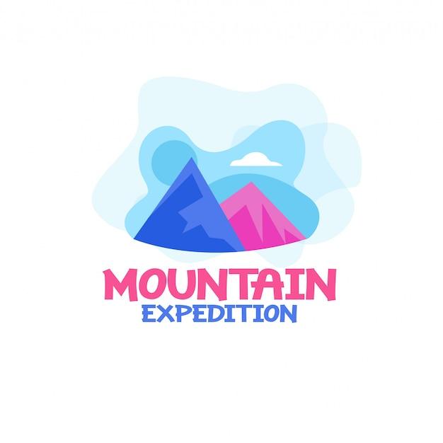Mountain expedition logo vector Premium Vector