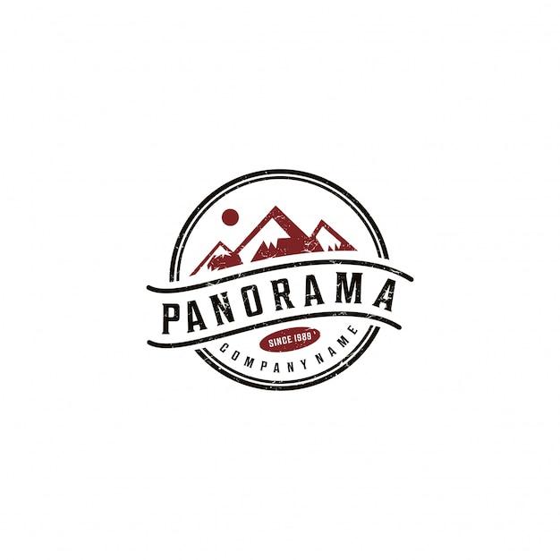 Mountain logo grafisch ontwerp Premium Vector