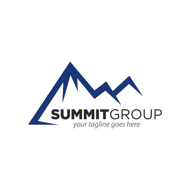 Mountain Summit Theme Symbol Design Vector Premium Download