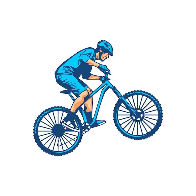 Mountainbike vector Premium Vector