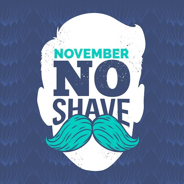 Movember achtergrond Gratis Vector