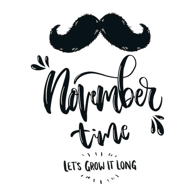 Movember concept met letters Gratis Vector