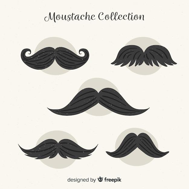 Movember snorverzameling Gratis Vector