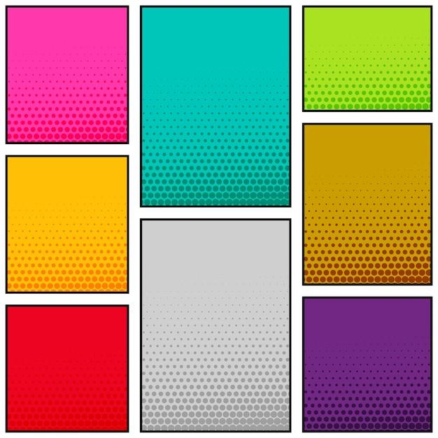 Multi-color comic book stijl verticale banner ontwerp Gratis Vector