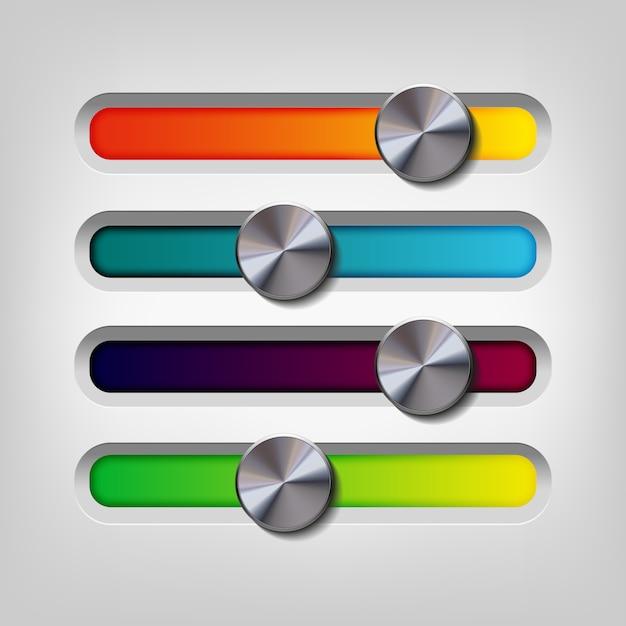 Multicolor bar ontwerp Gratis Vector