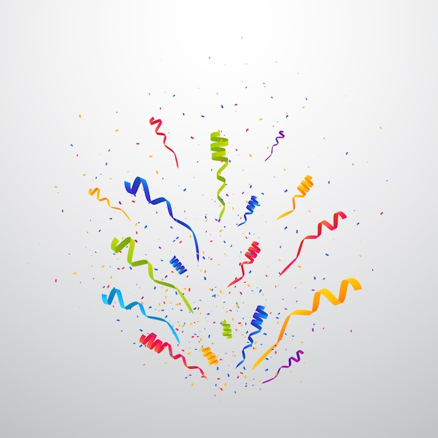 Multicolor confetti burst achtergrond Premium Vector
