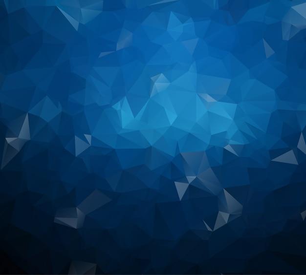 Multicolor donkerblauw geometrisch verkreukeld driehoekig ontwerp Premium Vector
