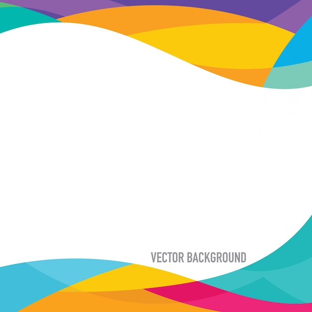 Multicolor frame achtergrond Gratis Vector
