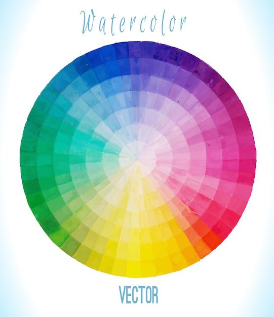 Multicolor spectrale cirkel Premium Vector