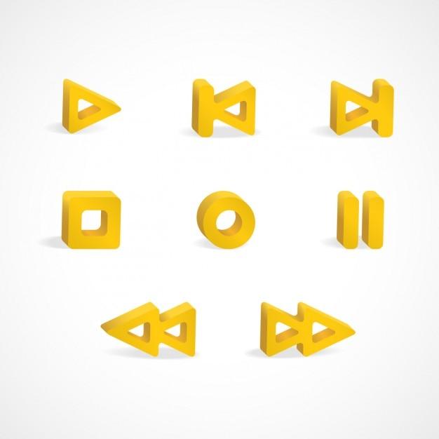 Multimedia speler pictogrammen Gratis Vector