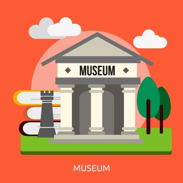 Museum achtergrond ontwerp Gratis Vector