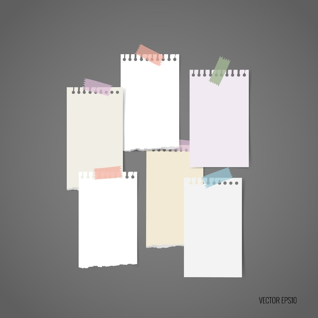 Muticolor noten collectie Gratis Vector