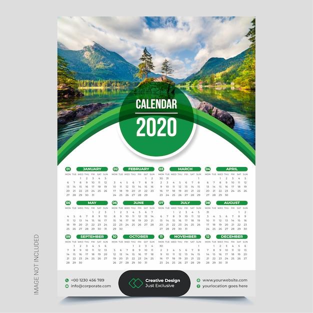 Muur kalender Premium Vector