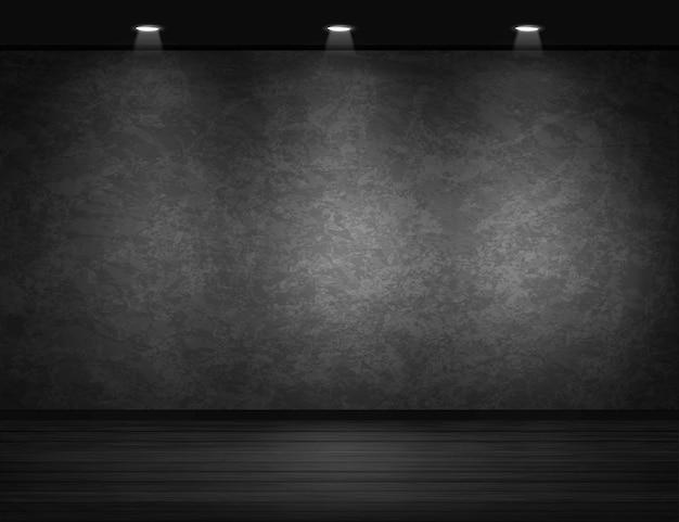 Muur zwarte achtergrond Premium Vector