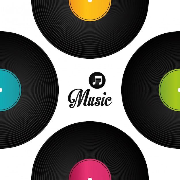 Muziek digitaal ontwerp. Premium Vector