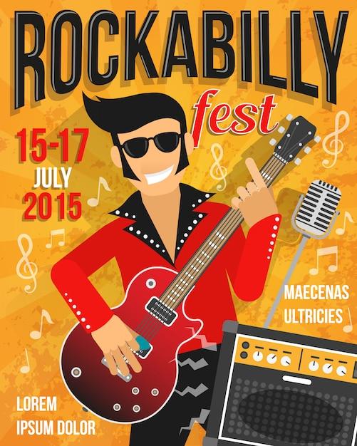 Muziek festival poster Gratis Vector