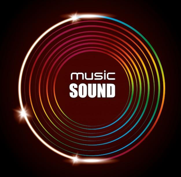 Muziek geluid achtergrondontwerp Gratis Vector