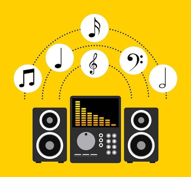 Muziek levensstijl Premium Vector