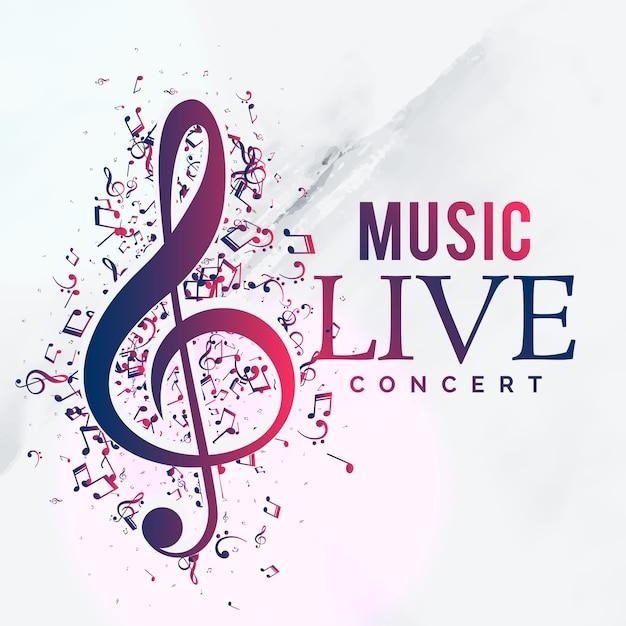 Muziek live concert poster flyer sjabloonontwerp Gratis Vector