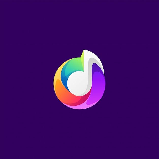 Muziek logo ontwerp Premium Vector
