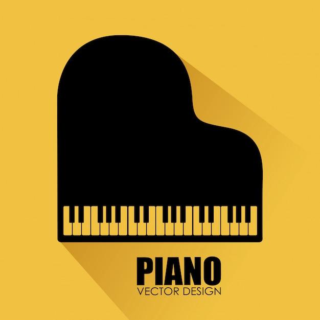 Muziek ontwerp gele illustratie Gratis Vector