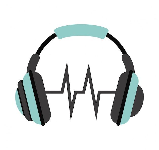 Muziek pictogram over witte achtergrond vectorillustratie Premium Vector