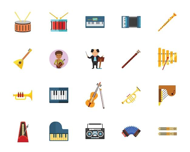 Muziek pictogramserie Gratis Vector