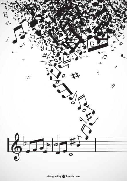Muziek twister vector Gratis Vector