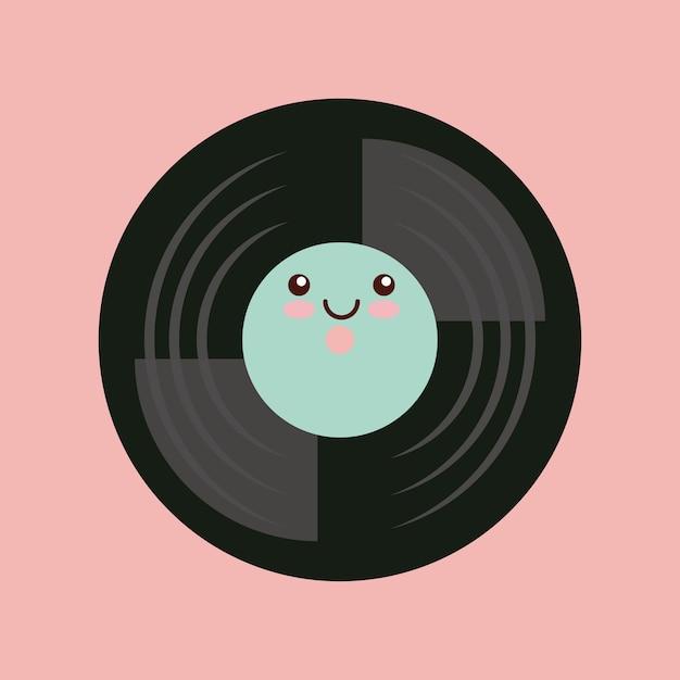Muziek vintage pictogram ontwerp Premium Vector