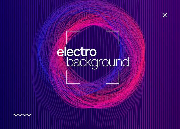 Muziekfest neon flyer. Premium Vector