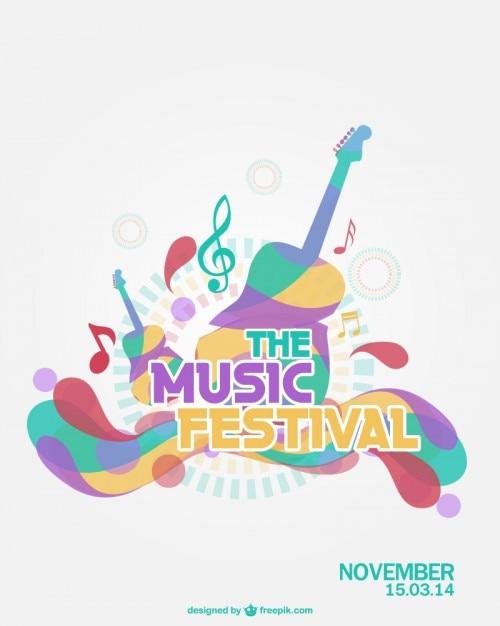 Muziekfestival vector Gratis Vector