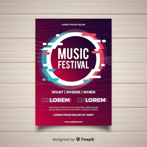 Muziekfestivalaffiche Gratis Vector