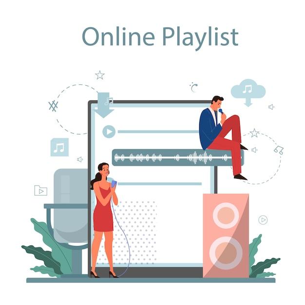Muziekstreamingservice en -platform Premium Vector