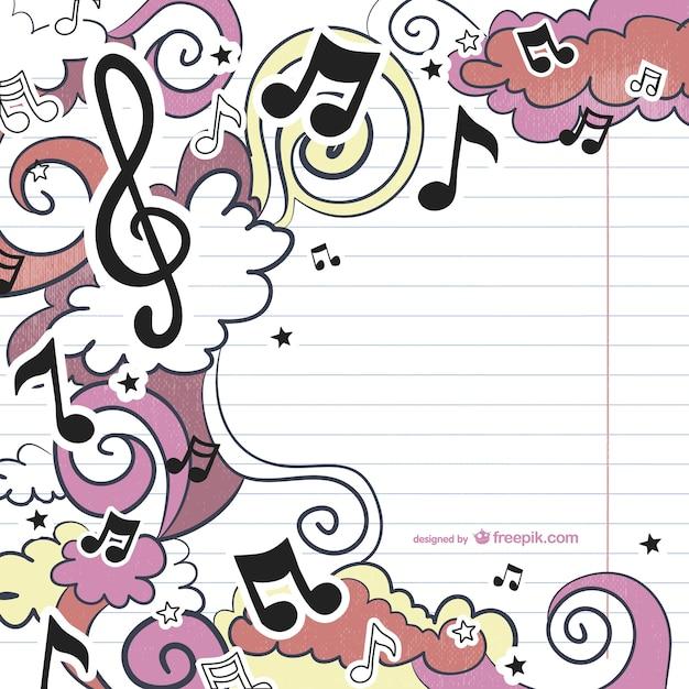 Muzikale tekening vector Gratis Vector